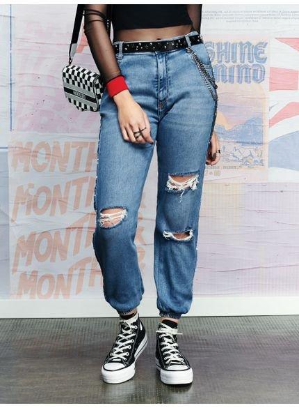 calca jogger jeans paete authoria t6883 look