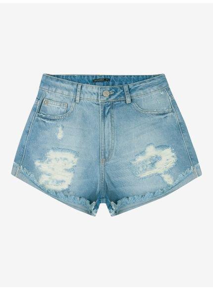 shorts jeans com rasgos feminino t6303