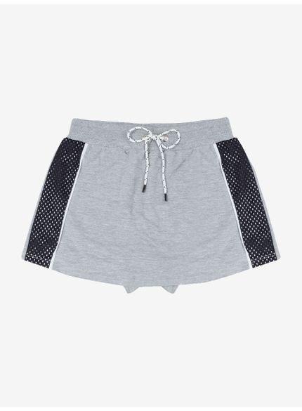 shorts saia de moletom cinza com cadarco t6881 still