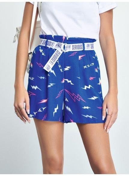 shorts clochard estampado raios azul authoria t6974 look