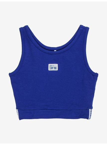cropped azul intense authoria t7074
