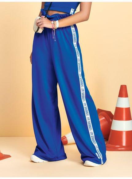 calca pantalona clochard azul intense t7072 look