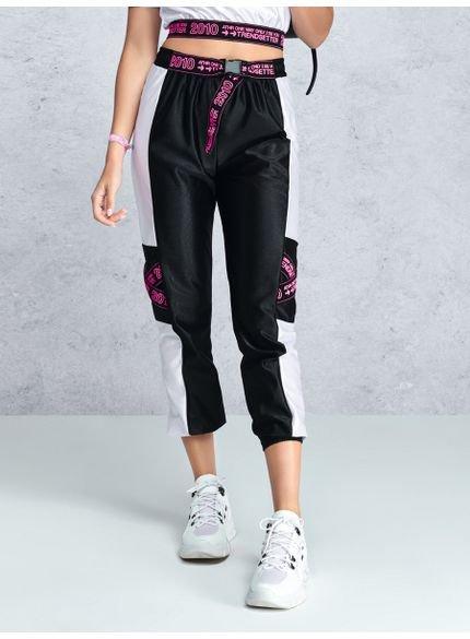 calca jogger esportiva neon t7083 look