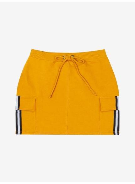 saia curta de moletom amarela authoria t6569 still