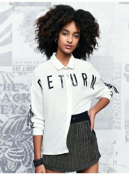 camisa feminina branca ampla authoria t6725 look
