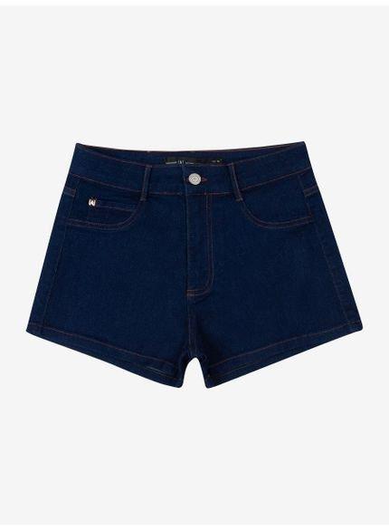 shorts curto jeans escuro authoria t6674 frente