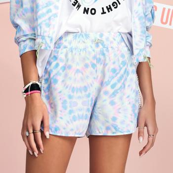 shorts tie dye feminino azul t7095