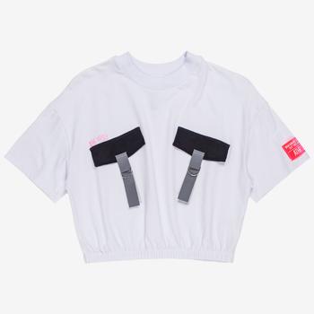 T shirt Cropped com Bolso t7151