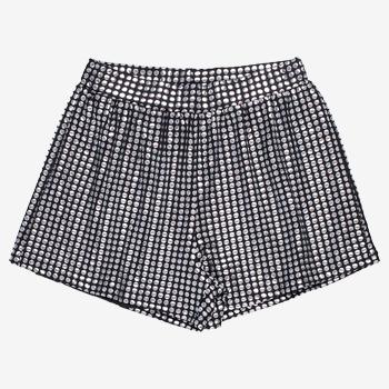 Shorts de Malha Disco Preto t7204