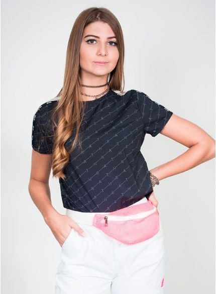 blusa juvenil feminina logomania authoria t6620 look
