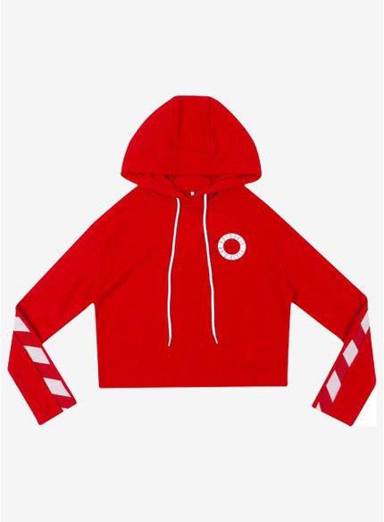 blusa de tricot vermelho com capuz t6943 still