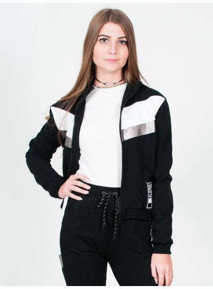 moletom com ziper juvenil feminino t6757 look