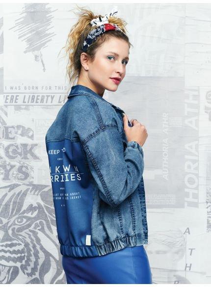 jaqueta jeans clara juvenil feminina t6663 costas