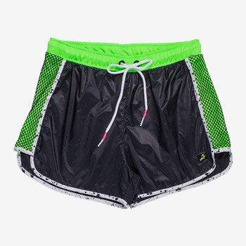 shorts esportivo feminino juvenil verde neon v0026 tecido
