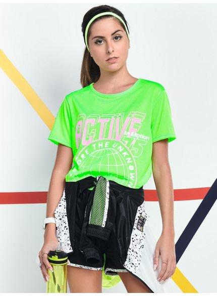 blusa cropped esportivo juvenil feminino verde neon v0029