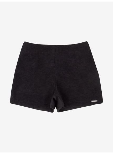 shorts veludo alfaiataria preto authoria t6896