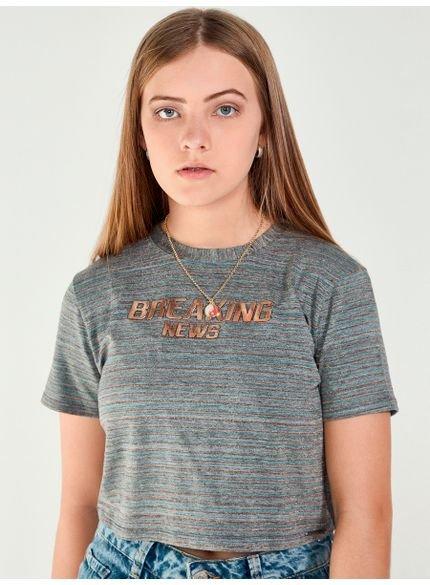 t shirt listrada cobre feminina t7045