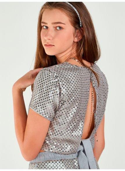blusa juvenil de paite abertura costas