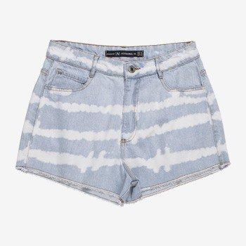 Shorts Jeans Juvenil Tie Dye Barra Desfiada