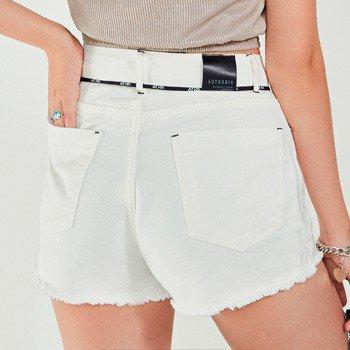 Shorts curto de Sarja Branco com cadarco personalizado authoria