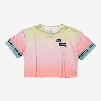 T shirt Cropped juvenil Tie Dye Degrade Authoria