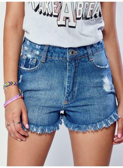 shorts jeans barra desfiada authoria look