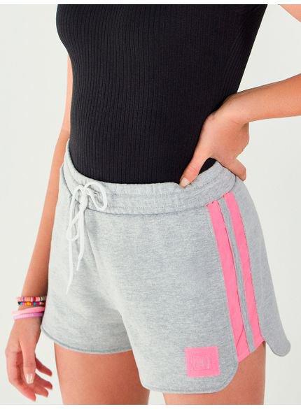shorts feminino de moletom mescla t7478