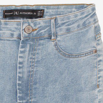 Calca Jeans Juvenil Azul Claro Barra Desfiada Authoria T7455