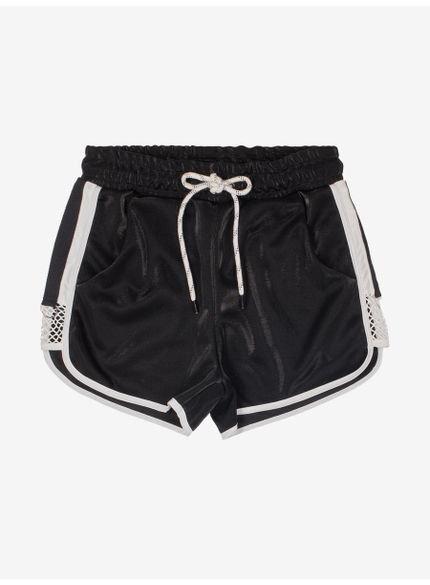 shorts juvenil runner preto brilho authoria t7189 still