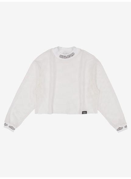 blusa juvenil de tela branca com gola alta still