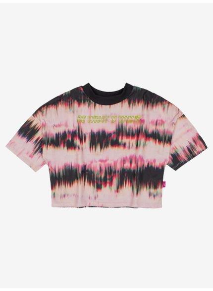 blusa juvenil estampa tie dye boreal