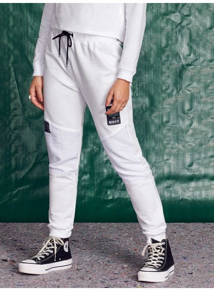 calca jogger juvenil de moletom off white look