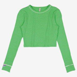 blusa teen manga longa verde neon i am r2341