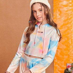 Moletom Teen Tie Dye Nuvem com Capuz I Am R2448