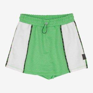 Shorts Saia Teen Verde Neon de Moletom I Am R2550