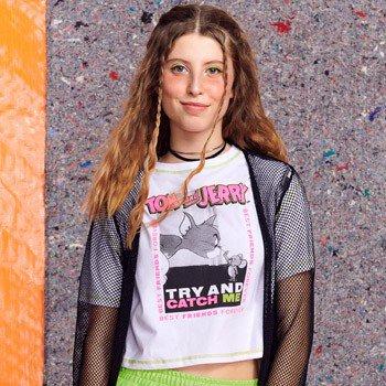 Camiseta Juvenil Feminina Tom e Jerry T7510