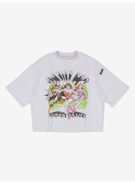 camiseta juvenil liga da justica oversize still