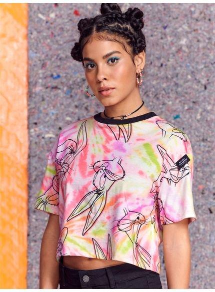 camiseta juvenil pernalonga tie dye
