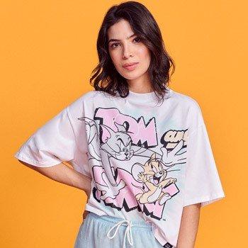 T shirt Ampla Juvenil Tom e Jerry T7622