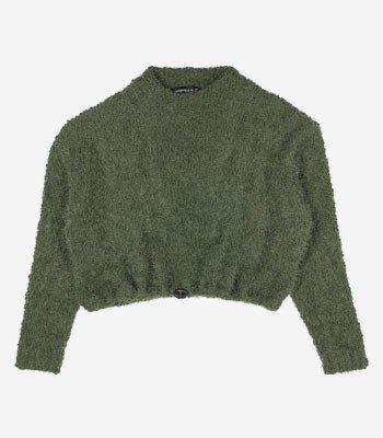 Casaco Juvenil Fluffy Verde Militar Authoria T7503