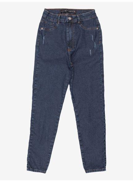 calca juvenil jeans reta cintura alta authoria